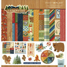 "Campfire Camping Photo Play Scrapbooking Collection Pack 12""X12"" CL2513 New"