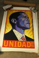 BARACK OBAMA UNIDAD Print signed and #65/500  RAFAEL LOPEZ Very Low print number