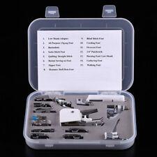 15 pcs/set Pied-de-biche Universel pour Machine à coudre Multifonction Domotique