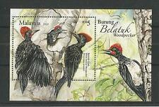 MALAYSIA 2013 WOODPECKERS MINISHEET SG,MS1936 U/M N/H LOT 2021A