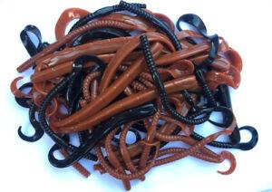 Lugworm artificial bait - ripple tail soft worms - sea fishing bait