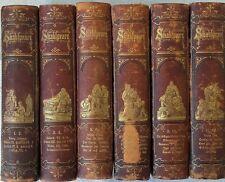 SHAKSPEARE'S DRAMATISCHE WERKE - 12 Teile in 6 Bänden 1871-73 - livres allemands