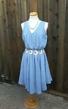 NWT Torrid Dress Sky Blue Textured Empire Waist Summer Sleeveless Dress Size 26
