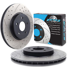 FRONT DRILLED GROOVED 300mm PAIR BRAKE DISCS FOR FORD MONDEO MK3 2.5 V6 2.0 TDCI