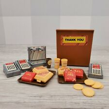 Vintage 1982 Mattel Barbie Loves McDonald's Restaurant Food Tray Accessory Lot