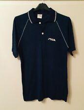 New listing BNWT Stiga Retro Navy Blue & White Table Tennis Retro Polo Shirt - size S