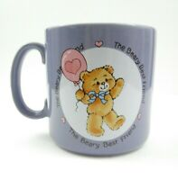 Applause The Beary Best Bear Purple Mug Cup 1985 Vintage Coffee Ceramic Japan
