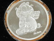 1987 Garfield Collectibles Silver Art Round .999 fine Gem Proof Cameo B8312