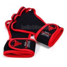 WORKOUT GLOVES REDLINE Wristwrap Weight Lifting Fitness Training GYM Grips Pads