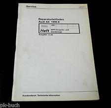 Manuale D'Officina Audi a 4/A4 Mpfi Sistema di Iniezione Accensione Ab 1995