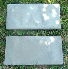 Slate paver stepping stone molds set of 2 concrete plaster casting