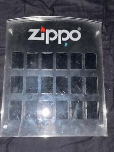 Original Zippo Sammelvitriene Sammelbox Wandvitrine für 18 Feuerzeuge Gebraucht