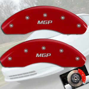 """1997-2004 Toyota Tacoma 4Cyl 2WD Front Red """"MGP"""" Brake Disc Caliper Covers 2pc"""