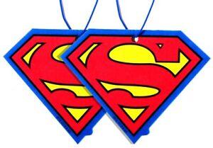 SUPERMAN Logo Hero Car Mirror Hanging Fragrance Charming Scents VANILLA 2pcs