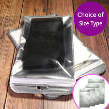 Many Sizes Clear Silver Packaging Zipper Bags Reclosable For Clothes Underwear