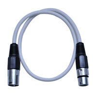 Seismic Audio 2 Foot White XLR to XLR Patch Cable - 2' XLR Patch Cord