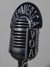 VOA Call Letters Flag for Electro Voice Cardyne I EV726 Vintage Microphone 3D