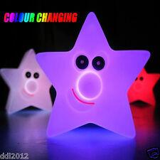 LED Light Changing Multi-Color Novelty Cute Smile Star Night Lamp Xmas Decor Hot