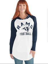 New Giii La Los Angeles Rams Woman's Ladies Tunic Hoodie Pullover Sweater M