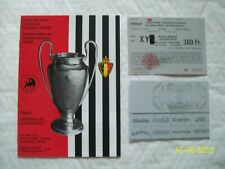 1985 European cup final programme & ticket Liverpool v Juventus Heysel mint con.