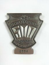 1997 Indianapolis 500 Silver Pit Badge Arie Luyendyk Wavephore/Sprint PCS/Miller