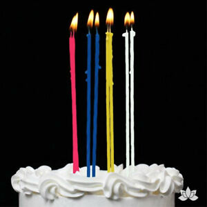 """408ct Party Candles for Birthday Cake Wedding Baby Shower Favors Multi Color 7"""""""