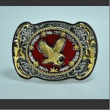 Águila Hebilla De Cinturón Moto Oro Floral Ornamento Película Oeste 164