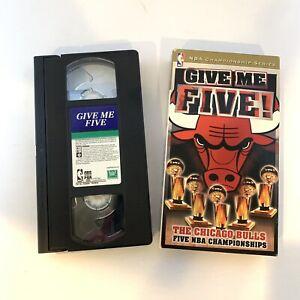 Give Me Five! / Chicago Bulls VHS Tape NBA Basketball - Michael Jordan RARE HTF