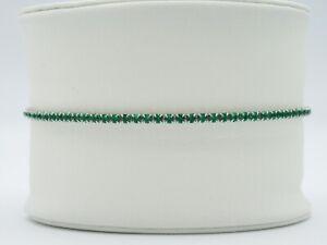 Womens Girls Sterling Silver 925 Emerald Green Tennis Bracelet Cubic Zirconia