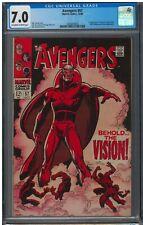 Avengers #57 CGC FN/VF 7.0 Off White to White 1st Vision!
