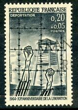 STAMP / TIMBRE FRANCE OBLITERE N° 1407 DEPORTATION