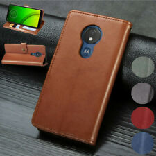 Genuine Leather Wallet Card Flip Case Cover For Motorola G7 Power G7 Play P40 Z4