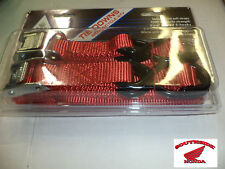MOTORCYCLE ATV TIE DOWN STRAPS WITH 2 SOFT STRAPS RED @@ON SALE LIMITED TIME@@
