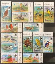 More details for lesotho. birds stamp set with tabs. sg437/510. 1981. mnh. #ets217