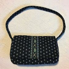 "! SALE ! Vera Bradley Nantucket Blue Small Handbag Snap Flap Purse EUC 5 1/2""x9"""