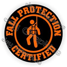Fall Protection Certified Hard Hat Sticker | Decal Helmet Label Safety Laborer
