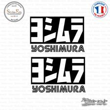 2 Stickers Yoshimura Decal Aufkleber Pegatinas YOS01 Couleurs au choix