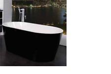 Freestanding Black/White Bathtub