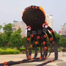 3D eyes 15m Black 1 Line Stunt Parafoil Octopus POWER Sport Kite outdoor toy