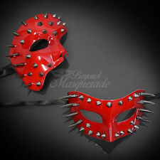 Red Spiked Steam Punk Venetian Mardi Gras Couple Lover Masquerade Mask