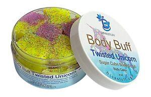 Twisted Unicorn Scented Sugar Cube Body Scrub/Wash, Made in The USA, Exfoliates