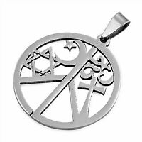 Coexist Necklace Stainless Steel Peace of Religions Pendant Womens Mens Jewelry