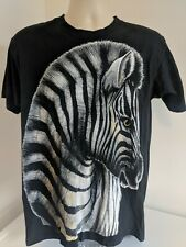 Vtg Made At The Beach Zebra All Over T Shirt Large  Single Stitch
