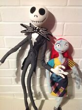 DISNEY STORE ~ NIGHTMARE BEFORE CHRISTMAS ~ JACK & SALLY ~ LARGE POSEABLE DOLLS