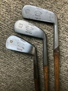 Hoylake Crown Special Mid-Iron, Mashie, putter hickory golf club set
