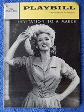 Invitation To A March - Music Box Theatre Playbill w/Ticket -  February 1961