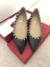 Valentino Garavani Rockstud Ballerinas Flats Black Size 40