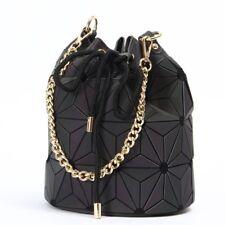 Women Bag Geometric Luminous Folding Bucket Bags Chain Ladies Cross Body Handbag