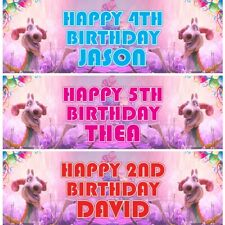 2 Personalised Llama Birthday Party Celebration Banners Decoration Poster