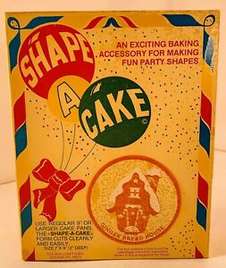 """Shape A Cake Ginger Bread House 7""""x9"""" Shape Cutter Brand New FREE SHIPPING"""